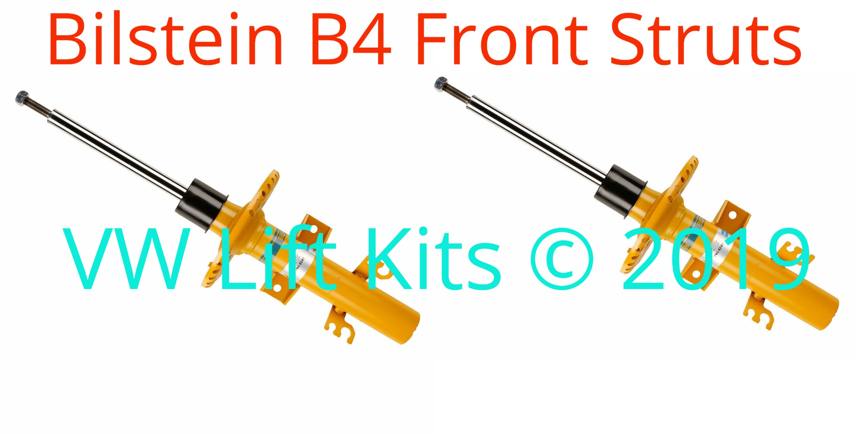 These twin tube Bilstein B4 front struts provide a firmer ride and are longer to work with the additional lift.