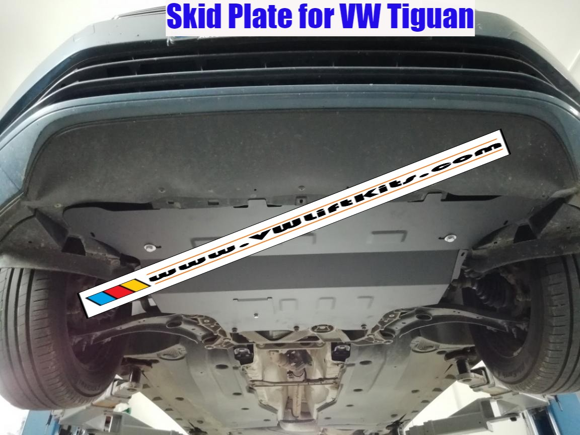 Bolt-On Rally Steel Style Skid Plate for VW Tiguans