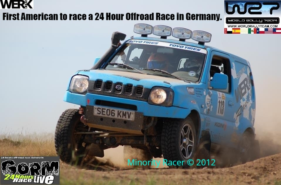 First Mexican American to race and finish the 24 hour GORM offroad race in Germany in 2012.