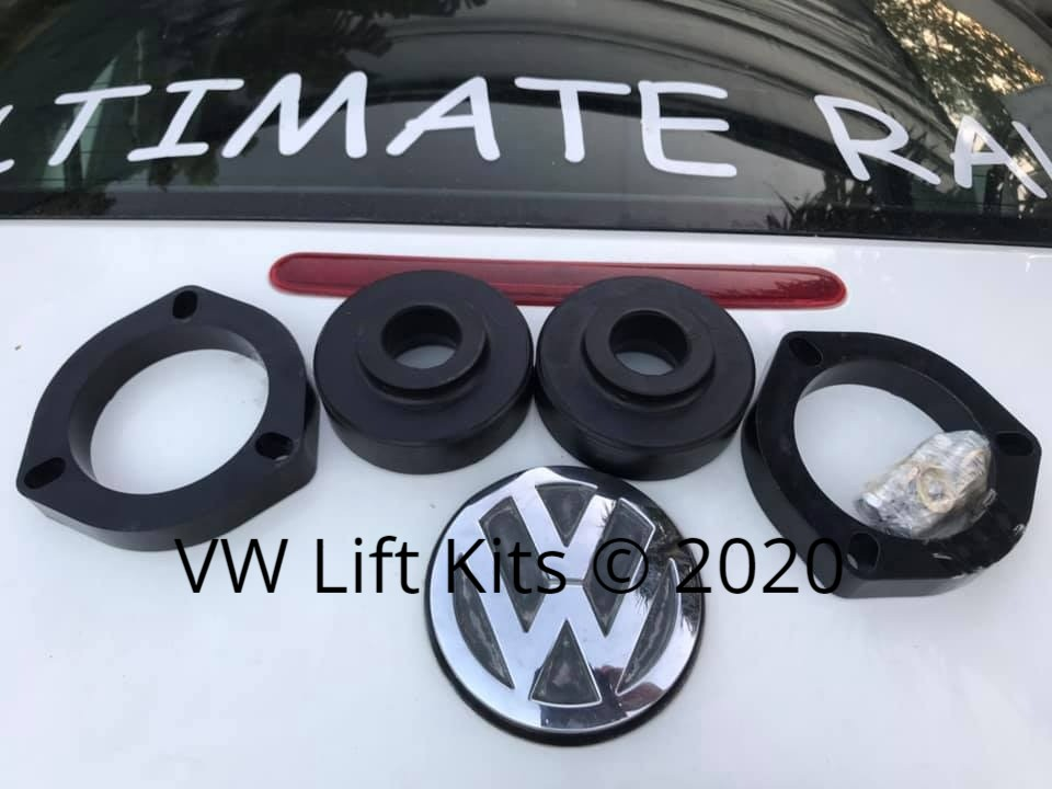 One inch Spacer kit for VW Beetle A5 2011-2019.  Best Bolt on VW Beetle A5 Lift Kit, no welding, no cutting, no drilling required.