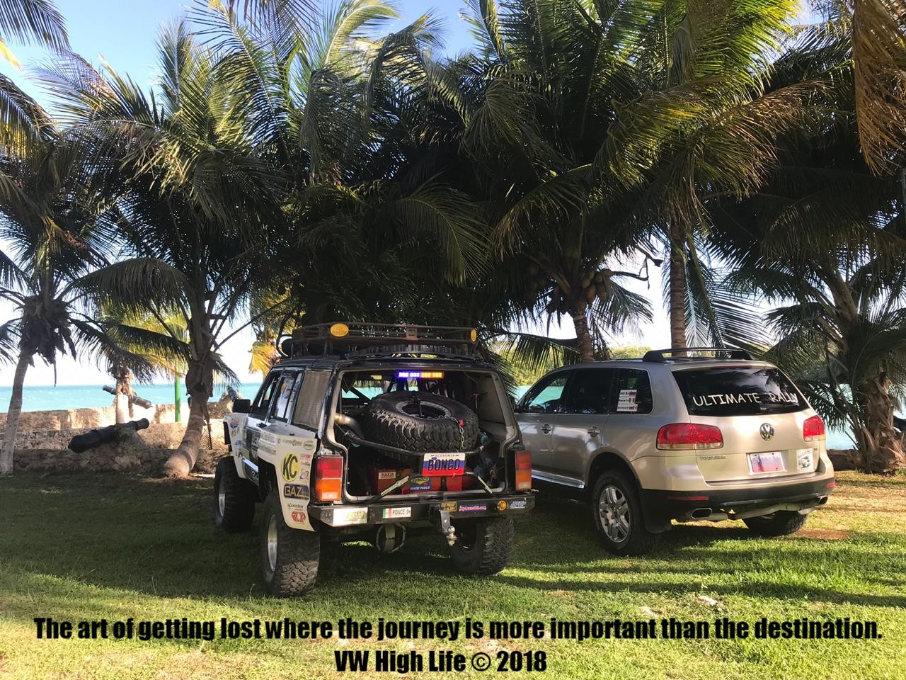 Modified VW Touareg in Belize