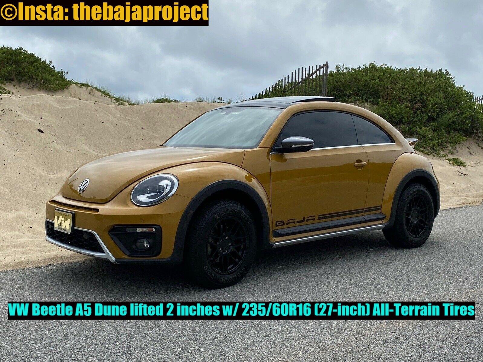 The cool Beetle is lifted w/ firmer high-performance German coils.  Follow more @Insta: thebajaproject