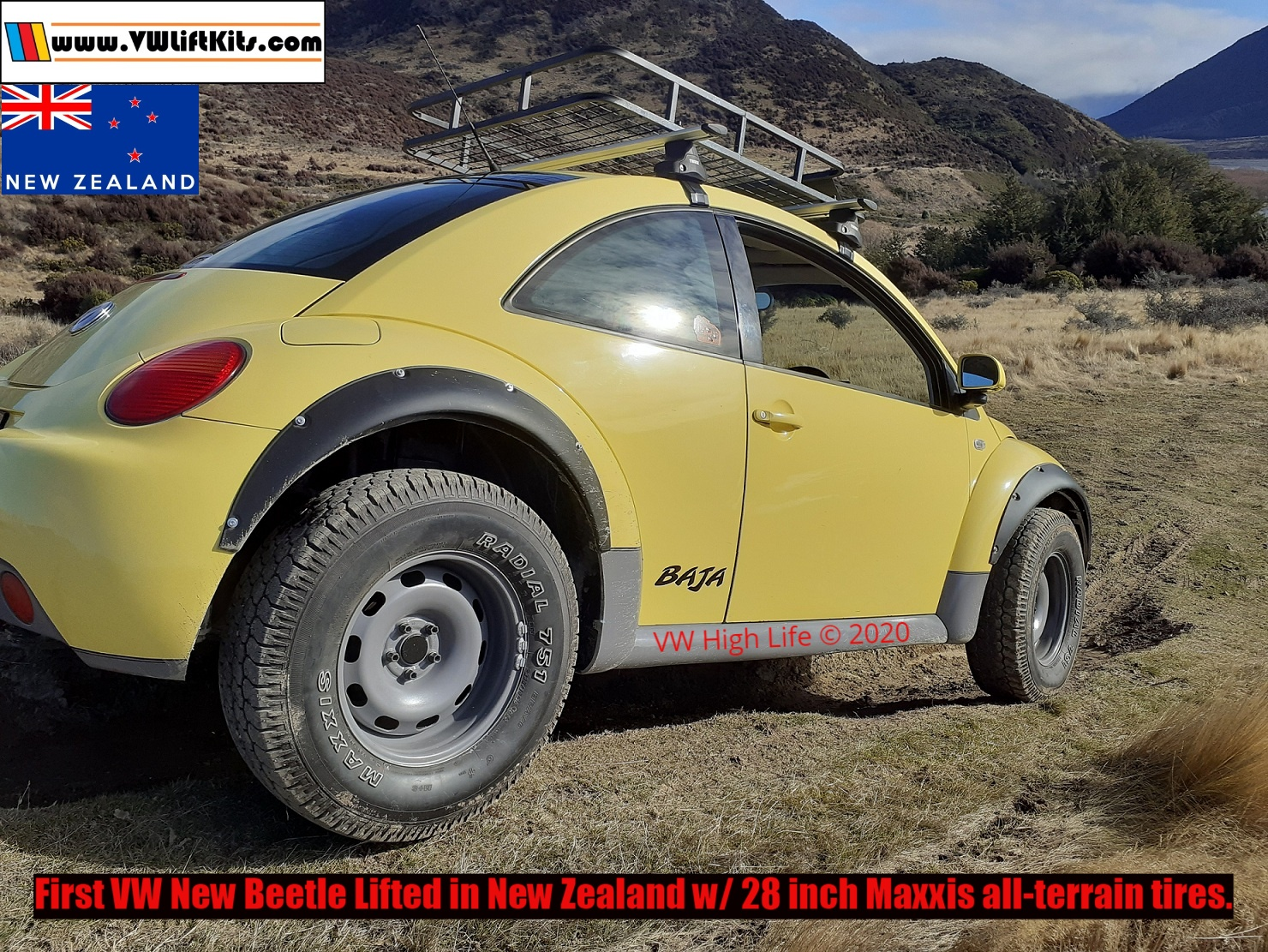 Richard's infamous COVID Beetle wheeling in KiwiLand.