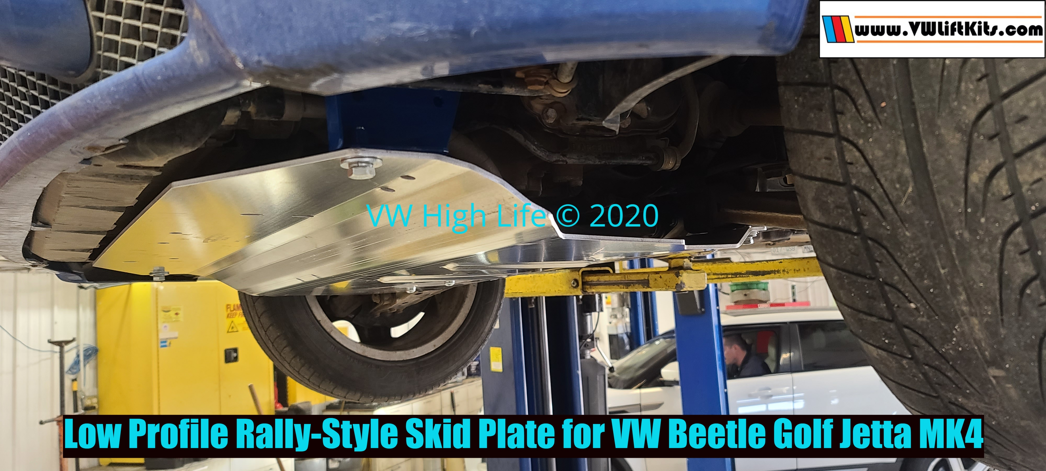 Low Profile Heavy Duty Rally-Style Skid Plate for VW Beetle Golf Jetta MK4. We ship worldwide!