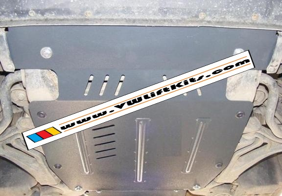 Bolt-on Rally Style Skid Plate for VW Touareg.