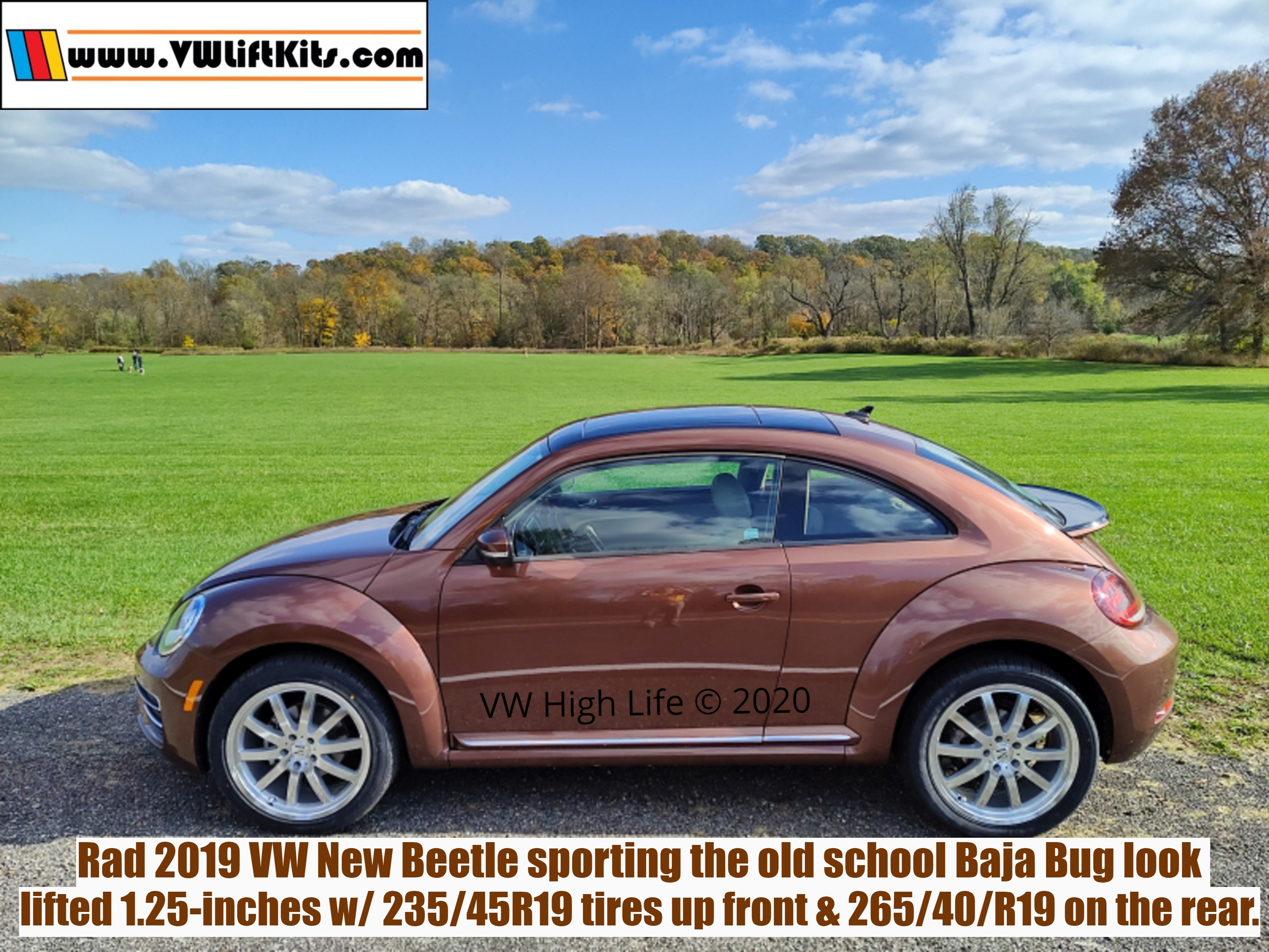 Super Cool VW New Beetle A5 lifted with 27-inch all season tires on 19-inch wheels!!