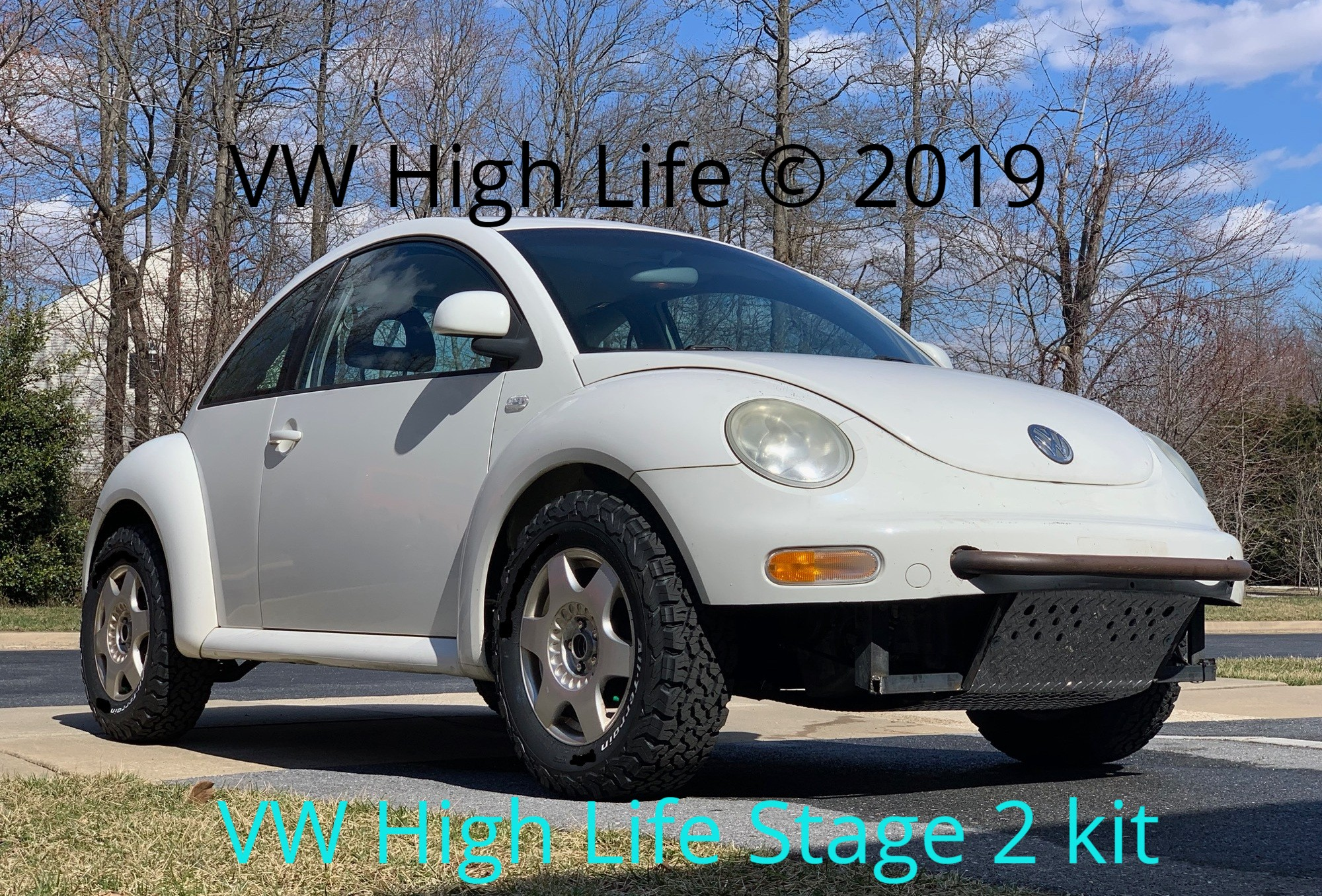 VW Beetle with 26 inch Off Road Tires lifted 2 inches in the rear & front