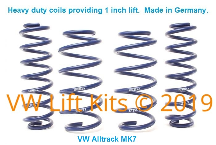 These Heavy Duty Springs are longer than stock that will never sag. Add 1 inch of Lift.